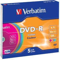 Verbatim DVD-R 4,7GB 16x Colour 5er Jewelcase