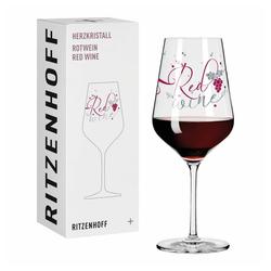 Ritzenhoff Rotweinglas Herzkristall Rotwein 006, Kristallglas, Made in Germany bunt