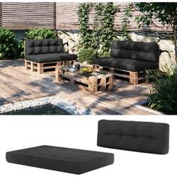 Vicco Palettenkissen-Set Sitzkissen + Rückenkissen Palettenmöbel, verschiedene Farben