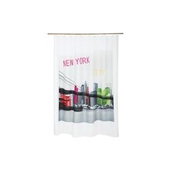dynamic24 Duschvorhang Breite 180 cm, Textil Motiv Badewannenvorhang 180x200 Wannenvorhang Dusche Vorhang New York Bridge
