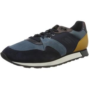 Geox Mens U VITTORIALE C Sneaker, Octane/Navy,46 EU