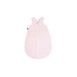 Julius Zoellner Sommerschlafsack in rosa mit Muster Star rose, 50 cm