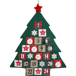 Adventskalender / Baum 72 x 89 cm, Säckchen 8,5 x 8 cm