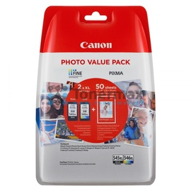 Canon PG-545XL schwarz + CL-546XL CMY
