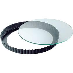 Backform Quiche & Kuchenboden mit Glasboden ø 28 cm schwarz  Erwachsene