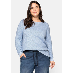 Sheego Pullover Sheego jeansblau meliert