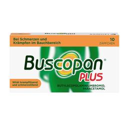 Buscopan® PLUS Zäpfchen 10 Stück bei Bauchschmerzen 10 St