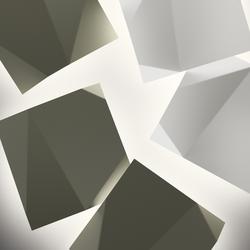 Origami Wandleuchte 4501 - Weiß