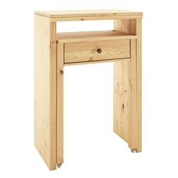 Schreibtisch oder Konsole natur ca. 88/60/38-69 cm