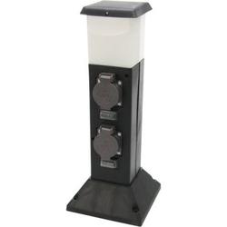 Energieverteiler 2-fach mit LED Beleuchtung und Bewegungsmelder EEK: A++