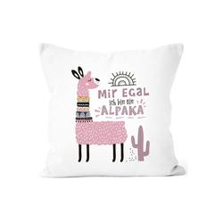 SpecialMe Dekokissen Kissen-Bezug Mir egal ich bin ein Alpaka - Alpaka-Motiv Lama Geschenk Alpaka-Liebhaber Dekokissen SpecialMe®