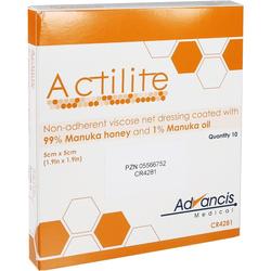 Actilite 5x5 cm Honig Wundauflage