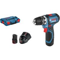 Bosch GSR 12V-15 FC Professional inkl. 2 x 2,0 Ah + L-Boxx 06019F6001