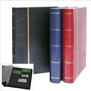Briefmarkenalbum 64 Seiten schwarz. Einband schwarz.Format ca. 230 x 305 mm.Luxusausführung.
