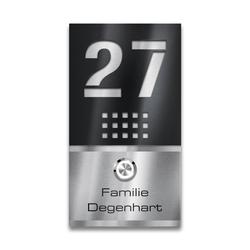 Edelstahl LED Türklingel und Hausnummer