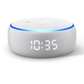 Amazon Echo Dot (3. Generation) mit Uhr sandstein