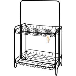 Korbregal mit zwei Ablagen - Korb Regal ideal für Küche Bad & Wohnzimmer 36x40x60