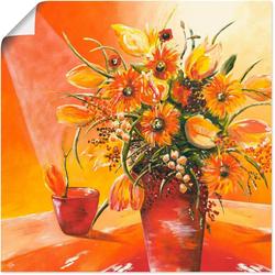 Artland Wandbild Blumenstrauß in Vase I, Blumen (1 Stück) 30 cm x 30 cm