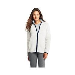 Jacke aus Teddyfleece - L - Weiß