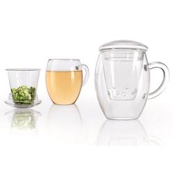 Creano Glas all-in-one, Mit Sieb