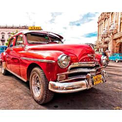 Papermoon Fototapete Old Cuba Car, matt, BlueBack, 7 Bahnen, 350 x 260 cm