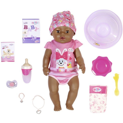 Baby Born Babypuppe Magic Girl Brown Eyes, 43 cm (Set, 13-tlg), mit 10 lebensechten Funktionen