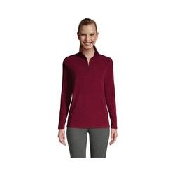 Fleece-Pullover mit Reißverschluss - L - Rot