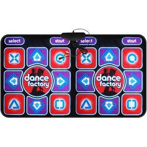 Tanzmatte Tanzteppich Spielzeug Double User Tanzmatten rutschfeste Tänzer Step Pads Sense Game Yoga Game Blanket Spielmatte Doppelte Tanzmatte Englische Version (Versand ohne Batterien)