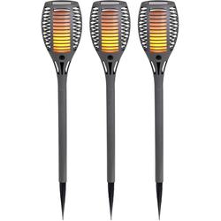 näve,LED Gartenleuchte LED Erdspieß Fackel grau Gartenleuchten Außenleuchten Lampen Leuchten