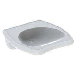 Geberit Waschtisch VITALIS 550 x 550 mm, barrierefrei, ohne Überlauf weiß