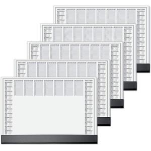 Sigel HO365 Papier-Schreibunterlage mit Schutzleiste, 5er Pack, ca. DIN A2 - extra groß, 2-Jahres-Kalender, 40 Blatt, mit schwarzer schutzleiste, HO365/5