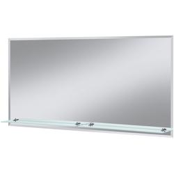 welltime Badspiegel Flex, 120 x 60 cm, mit Glasablage und Facettenschliff