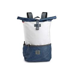 360Grad Handtasche 360 Grad Rucksack Lotse aus Segeltuch mit blauem Balken Segeltuchtasche