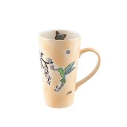 Mila Becher Mila Keramik-Becher Caffee Latte Kolibri, Keramik