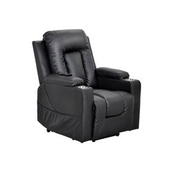 Fangqi Relaxsessel Elektrischer Fernsehsessel schwarz