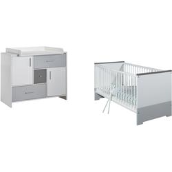 Schardt Babymöbel-Set Candy Grey, (Spar-Set, 2-St), mit Kinderbett und Wickelkommode; Made in Germany