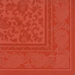 "Papstar Servietten, 1/4-Falz, 40 cm x 40 cm, terracotta, ""ROYAL Collection"" ,Motiv: ""Ornaments"", 1 Karton = 5 Packungen à 50 Stück"