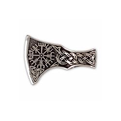 KUNST UND MAGIE Amulett Wikinger Axt mit Wikinger Kompass Anhänger Amulett Silber 925