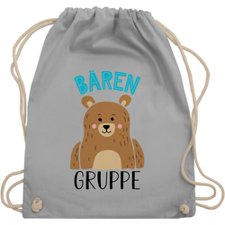 Shirtracer Turnbeutel Kindergartengruppe - Bärengruppe - Kindergarten Geschenk - Turnbeutel, Kinder Outfit grau
