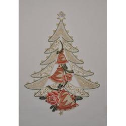 Stickereien Plauen Fensterbild Weihnachtsbaum