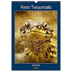 Retro Tierportrait (Wandkalender 2021 DIN A3 hoch)