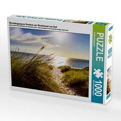 Strandzugang zur Nordsee am Weststrand von Sylt Lege-Größe 64 x 48 cm Foto-Puzzle Bild von Andrea Dreegmeyer Puzzle
