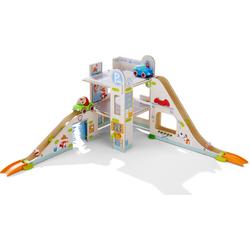 Haba Kugelbahn Kullerbü - Parkhaus bunt Kinder Holzspielzeug