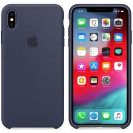 Apple iPhone XS Max Silikon Case mitternachtsblau