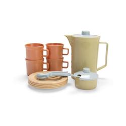 dantoy Spielgeschirr BIOplastic Kaffee-Service für 4 in Geschenkbox, beige