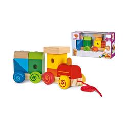 Eichhorn Spielzeug-Eisenbahn Zug, 11-tlg. - Lok mit Sound + Anhänger mit weiß