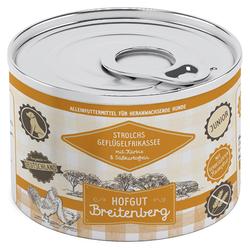 (8,70 EUR/kg) Hofgut Breitenberg Junior Strolchs Geflügelfrikassee mit Kürbis & Süßkartoffeln 200 g - 12 Stück