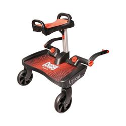 Lascal Kinderwagenaufsatz BuggyBoard Maxi+ schwarz mit Sitz rot rot
