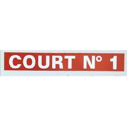 Tenniscourt 1 - Tennis Scorer Aufkleber