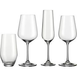 BOHEMIA SELECTION Gläser-Set, (Set, 24 tlg., 6 Rotweinkelche, Weißweinkelche, Sektkelche, Becher), Kristallglas farblos Kristallgläser Gläser Glaswaren Haushaltswaren Gläser-Set